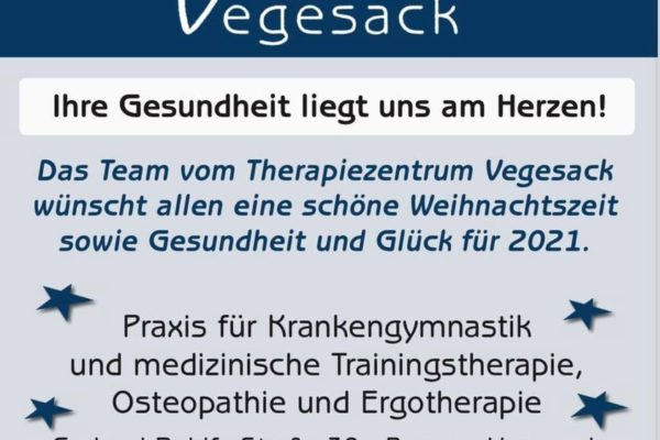 Therapiezentrum Vegesack wünscht Frohes Fest